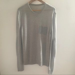 Theory Silk Cashmere Gray Sweater NWOT